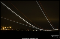 Aircraft Light Trails - Leeds Bradford Airport