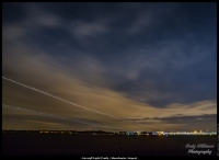 Aircraft Light Trails - Manchester Airport